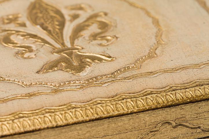 Dipingere Portagioie Di Legno : Scatola porta gioie giglio fiorentino la bottega di fiorenza