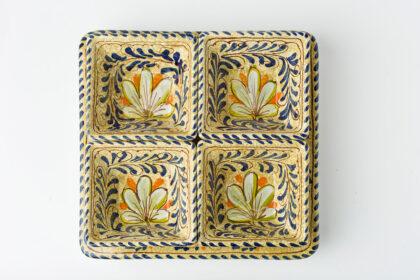 Antipastiera rinascimentale creato e decorato a mano ceramica fiorentina