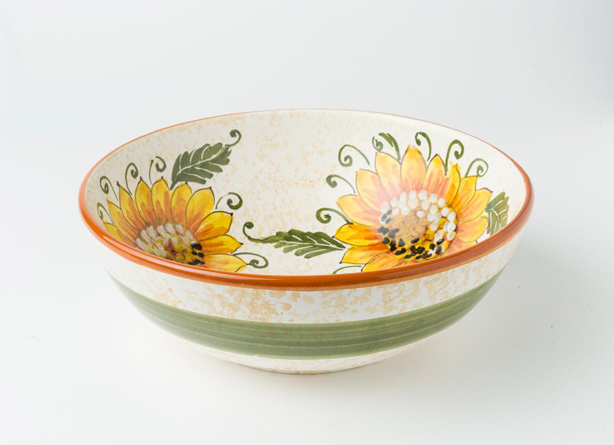 Ciotole In Ceramica.Ciotola Classica Disegno Girasole