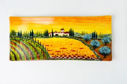 Piatto decorato a mano ceramica fiorentina