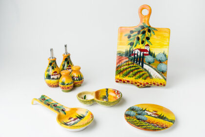 Set Cucina decorato a mano ceramica fiorentina