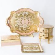 Set Legno Rosa - artigianato Fiorentino
