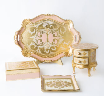 Wooden Set Rose - Florentine craftsmanship